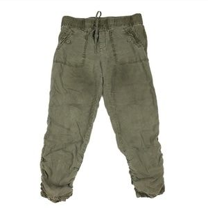 Anthropologie Hei Hei Army Green Cropped Pants